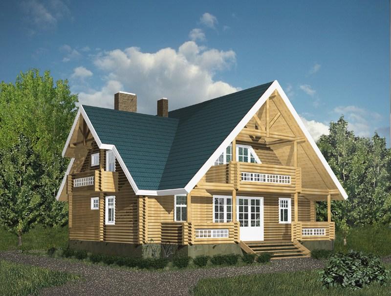 строительство зданий - оцилиндрованные дома