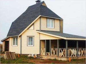Проекты домов с открытыми верандами