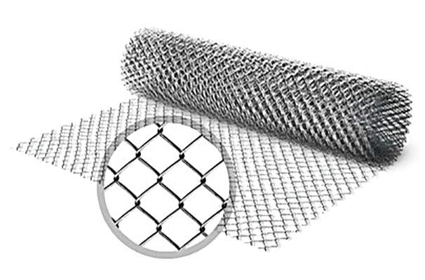 Сетка плетеная металлическая черная и оцинкованная (рабица) ГОСТ 2715-75